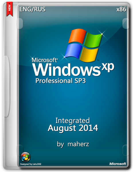 Windows XP Pro SP3 Integrated August By Maherz 5.1.2600 (x86) (2014) [Engl|Rus]