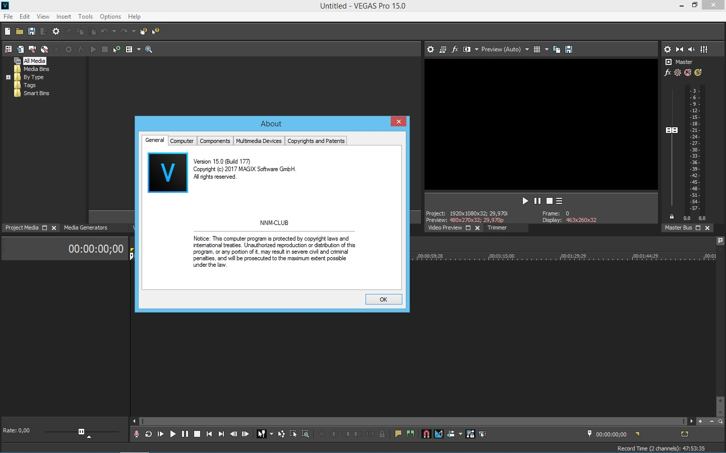 MAGIX Vegas Pro 15.0 Build 311 [x64] (2017) PC | RePack by KpoJIuK