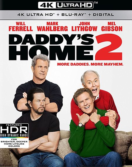 Здравствуй, папа, Новый год! 2 / Daddy's Home 2 (2017) BDRemux 2160p от ExKinoRay | 4K | HDR | Лицензия